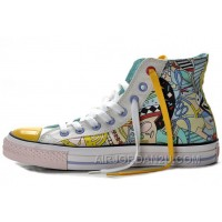 CONVERSE Silk Road Comics Pattern Printed Multi Colored High Tops Chuck Taylor All Star Canvas Shoes Lastest Efkrd