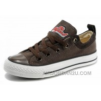 Cool CONVERSE Brown Ps Embroidery Chucks All Star Canvas Brown Suede Easy Slip Cheap To Buy 42sSW