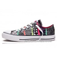 CONVERSE Chuck Taylor All Star Geometric Pattern Print Multi Colored Tops Canvas Sneakers Free Shipping TzYiT
