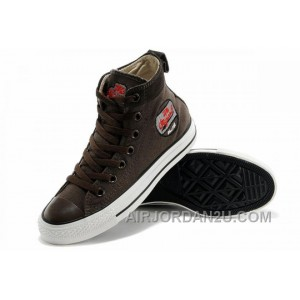 Cool CONVERSE Embroidery Brown High Tops Chucks All Star Canvas Suede Easy Slip Online PtnMr