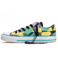 CONVERSE Chucks Spray Painting Dazzling Yellow Green Black All Star Multi Colored Canvas Tops Shoes Free Shipping P6w7d