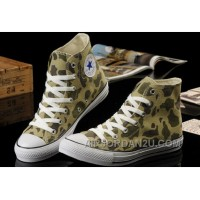 CONVERSE Summer Nicolas Cage Soul Camouflage Army Olive Green All Star Chucks High Ps Canvas Sneakers Cheap To Buy ENirP