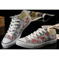 Summer CONVERSE Camouflage Nicolas Cage Soul Grey Red All Star Chucks Tops Canvas Sneakers Online ANPAx
