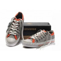 Grey Orange CONVERSE Double Upper Tongue All Star Chuck Taylor Tops Canvas Casual Shoes Hot Now S3d5w