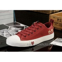 Red CONVERSE All Star Light Comme Des Garcons Play Canvas Tops Shoes Christmas Deals Nsfrn