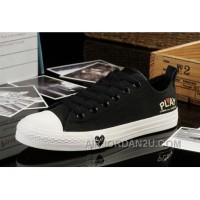 Black CONVERSE All Star Light Comme Des Garcons Play Tops Canvas Shoes Free Shipping BsbGJ