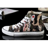 CONVERSE All Star Camo Shark Printed High Ps Zipper Canvas Shoes Cheap To Buy GJAbe