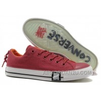 Undefeated CONVERSE All Star Tops Wine Red Canvas Clear Rubber Soles Christmas Deals MXdbd