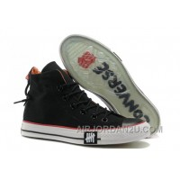 Black Undefeated CONVERSE All Star High Tops Canvas Clear Rubber Soles Hot Now CWCCj
