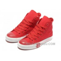 Red CONVERSE High Tops Lightning Chuck Taylor All Star Canvas Shoes Authentic PKMnJ