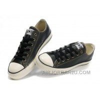 Black Leather CONVERSE All Star Overseas Edition Tops Trainer Authentic WCE5x