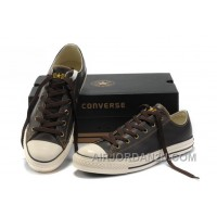 Brown Leather CONVERSE All Star Overseas Edition Tops Shoes Online MGm5t