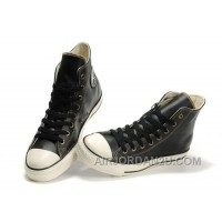 Overseas Black CONVERSE High Tops All Star Ox Leather Sneakers Free Shipping I7hRR