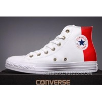 CONVERSE Red Leather Two Panels Chuck Taylor All Star High Tops Lastest ScZZh