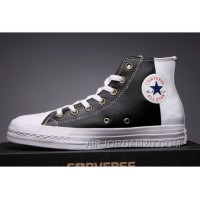 CONVERSE Black Leather Two Panels Chuck Taylor All Star High Tops Discount Y3pEY