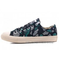 CONVERSE All Star Suede Camouflage Chuck Taylor Sneakers Black Green Grey Lastest CApjT