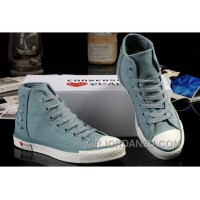 Ultimate Edition Light Blue CONVERSE Comme Des Garcons Play Chuck Tayloar All Star High Tops Canvas Sneakers For Sale 7fRSd