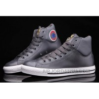 Grey CONVERSE CT AS Embroidery Padded Collar High Tops Leather For Sale Ajywx