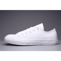All Star All White Monochrome CONVERSE Chuck Taylor All Star Leather Low Top Deals TXfQ5