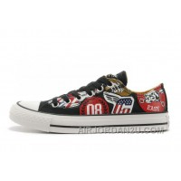Black CONVERSE American Retro Pattern Printing Tops Chuck Taylor All Star Canvas Sneakers Free Shipping Y2tWX