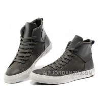 Grey CONVERSE Chuck Taylor All Star City Lights High Tops Black Leather Canvas Sneakers Super Deals 4QyXC