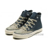 High Tops CONVERSE Christmas Collection Blue Grey Tonal Stitching Polk Canvas All Star Shoes Authentic PFs82
