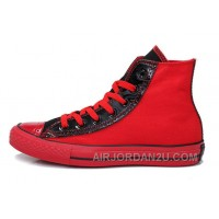 Red Black High Tops CONVERSE Heritor Chuck Taylor All Star Canvas Sneakers Discount YiJ3x