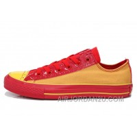 CONVERSE Successor Yellow Red Chuck Taylor All Star Tops Canvas Sneakers Christmas Deals TTzWT