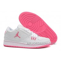 For Sale Girls Air Jordan 1 Low White Pink Shoes