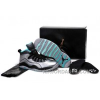 "Cheap Girls Air Jordan 10 ""Lady Liberty"" Cement Grey/Black-Tropical Teal Remastered"