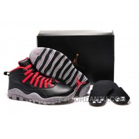 "Cheap Girls Air Jordan 10 ""PSNY"" X Public School Black-Grey/Gym Red"