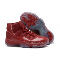 Cheap Girls Air Jordan 11 Red-Brown Leather Shoes For Sale
