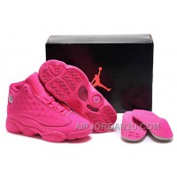 New Girls Air Jordan 13 All-Pink Shoes For Sale Online