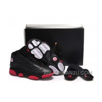 "New Girls Air Jordan 13 ""Gym Red"" Black/Gym Red-Black Shoes For Sale"