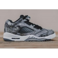 "New 2016 Girls Air Jordan 5 Low GS ""All-Star"" Cool Grey/Wolf Grey-White-Black"