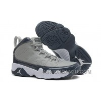 New Air Jordan 9 Retro Medium Grey/Cool Grey-White Hot