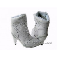Women's Nike Air Jordan 1 High Heels Shoes White For Sale
