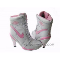 Women's Nike Air Jordan 1 High Heels Shoes White/Light Pink For Sale