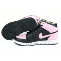 Women's Nike Air Jordan 1 Shoes Black/Pink For Sale