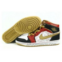Women's Nike Air Jordan 1 Shoes White/Red/Black/Coco For Sale