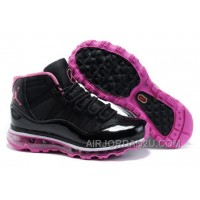 Women's Nike Air Max Jordan 11 Shoes Black/Pink Discount 454026