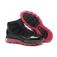 Women's Nike Air Max Jordan 11 Shoes Black/Pink Discount