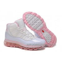 Women's Nike Air Max Jordan 11 Shoes White/Light Pink Discount