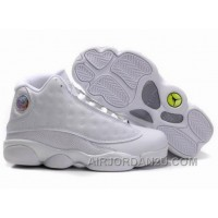 Women's Nike Air Jordan 13 Shoes All White For Sale