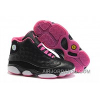 New Arrival Women's Nike Air Jordan 13 Shoes Black/Pink/White 453403