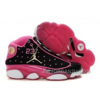 New Arrival Women's Nike Air Jordan 13 Shoes Black/Pink/White