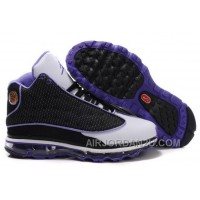 Women's Nike Air Max Jordan 13 Shoes White/Black/Purple Hot