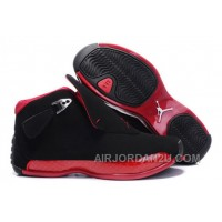 Women's Nike Air Jordan 18 Shoes Black/Red Online