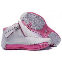 New Arrival Women's Nike Air Jordan 18 Shoes White/Little Pink