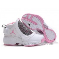 Hot Women's Nike Air Jordan 19 Shoes White/Pink/Black
